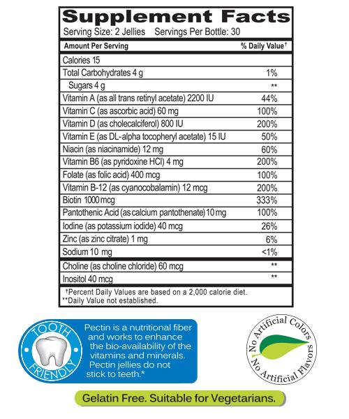 yumvs teens supplements facts
